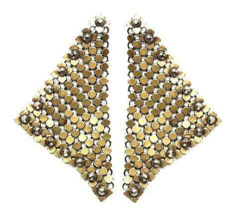 earring stud dangling Rock 'n' Glam brown antique brass – KONPLOTT USA