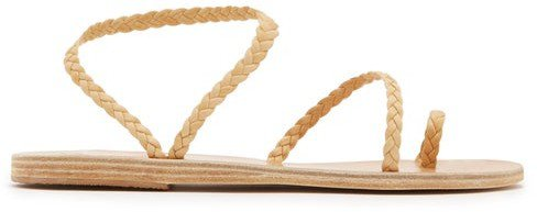 Eleftheria Braided Leather Sandals - Tan