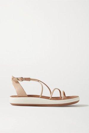 Anastasia Leather Sandals - Beige