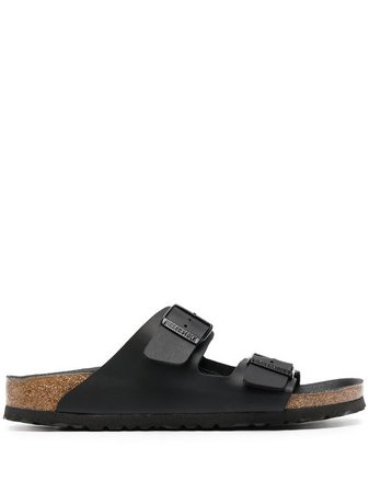 Shop black Birkenstock Arizona leather sandals with Express Delivery - Farfetch