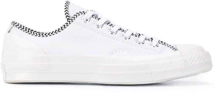 Low-Top Chevron Pattern Sneakers