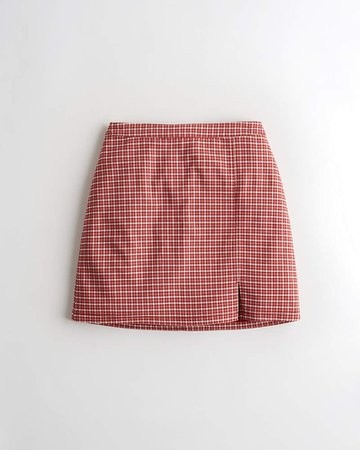 Girls Advanced Stretch Ultra High-Rise Plaid Mini Skirt   Girls New Arrivals   HollisterCo.com