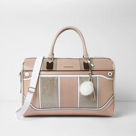 Beige panel cutabout weekend bag - Suitcases - Bags & Purses - women
