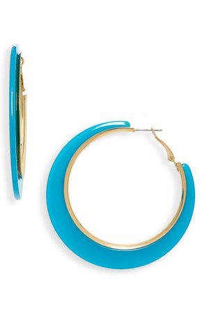 BP. Resin Hoop Earrings | Nordstrom