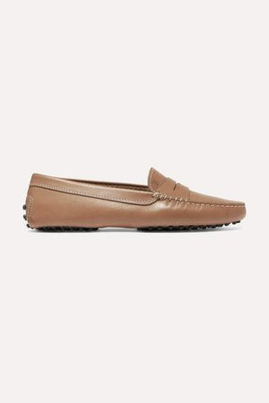 Gommino Leather Loafers - Tan