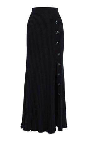 Anna Quan Hettie Ribbed Cotton Maxi Skirt