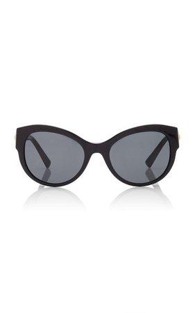 Safety-Pin Cat-Eye Acetate Sunglasses By Versace | Moda Operandi