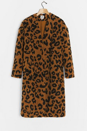 Farren Spotted Teddy Coat   Anthropologie
