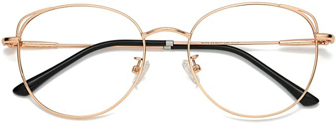 SOJOS Cat Eye Blue Light Blocking Glasses Hipster Metal Frame Women Eyeglasses She Young SJ5027 with Rose Gold Frame/Anti-Blue Light Lens: Amazon.ca: Clothing & Accessories