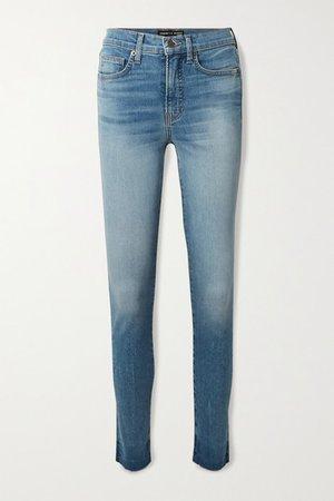Debbie Frayed High-rise Skinny Jeans - Mid denim