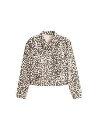 MANGO Leopard denim jacket
