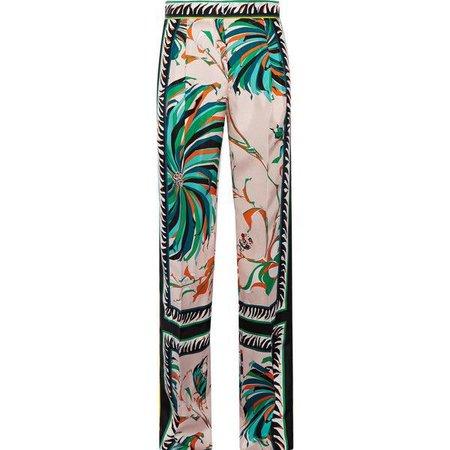 Emilio PucciPrinted Silk-twill Wide-leg Pants (€1.290)