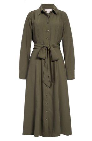 Rachel Parcell Tie Waist Long Sleeve Shirtdress (Nordstrom Exclusive) | Nordstrom