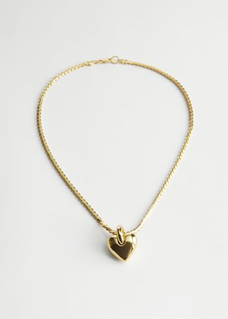 Heart Pendant Chain Necklace - Gold - Necklaces - & Other Stories