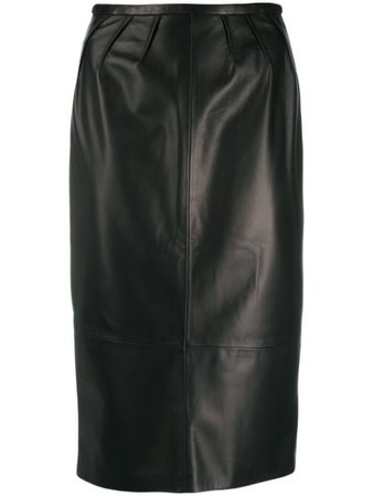 Black Rochas Midi Pencil Skirt | Farfetch.com