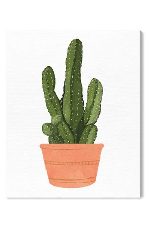 Oliver Gal Cactus Coral III Canvas Wall Art | Nordstrom