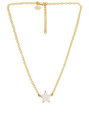 Lele Sadoughi Ashford Star Charm Necklace in Mother Of Pearl | REVOLVE
