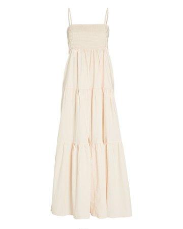 Bird & Knoll Luna Cotton Tiered Maxi Dress   INTERMIX®