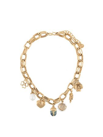 Shop gold Goossens Talisman charm necklace with Express Delivery - Farfetch