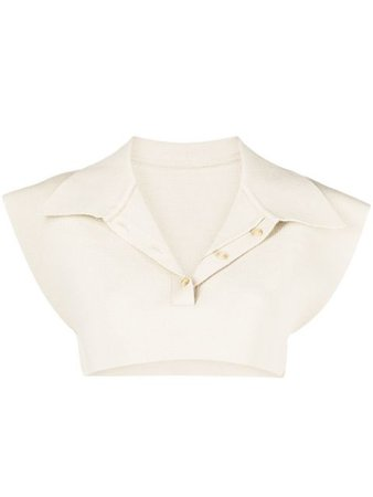 Jacquemus button-up knitted crop top 211KN08211212800 - Farfetch