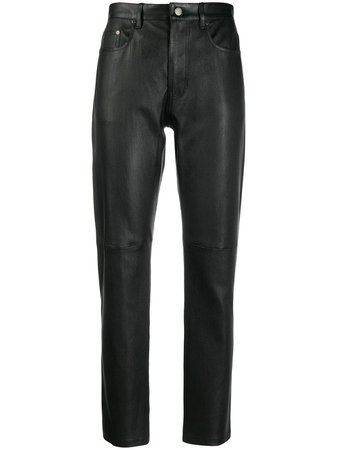 Joseph Leather Straight Trousers - Farfetch