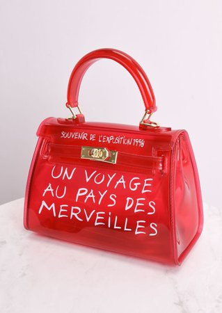Clear French Tote Bag