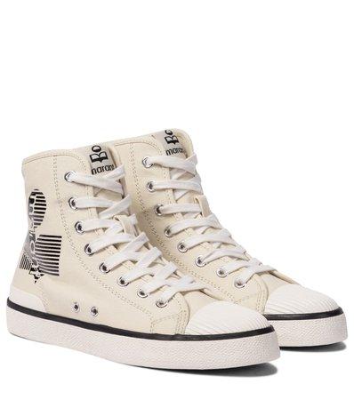 Isabel Marant - Benkeen canvas sneakers | Mytheresa