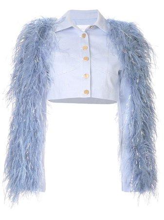 Alice Mccall Peace Feather Jacket | Farfetch.com