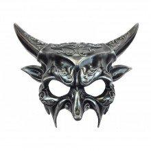 Men's Deluxe Silver Devil Masquerade Mask - Screamers Costumes