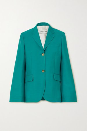Lanvin | Mohair and wool-blend blazer | NET-A-PORTER.COM