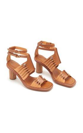 Madiera Twisted Contrast Leather Sandals By Ulla Johnson | Moda Operandi