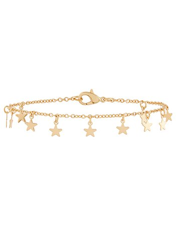 Mini Star Charm Anklet | Gold | One Size | 8843928100 | Accessorize