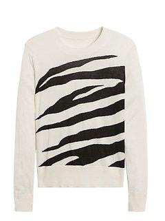 Banana Republic relaxed zebra sweater