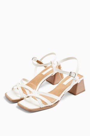 DIVINE White Block Sandals | Topshop