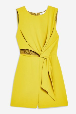 Twist Drape Playsuit | Topshop yellow