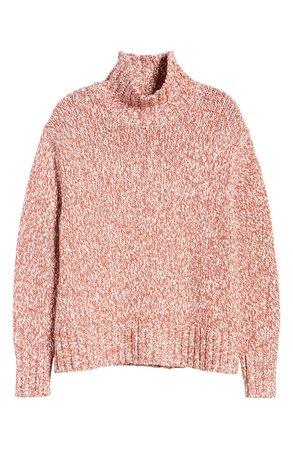 Lou & Grey Marled Knit Turtleneck Tunic Sweater   Nordstrom