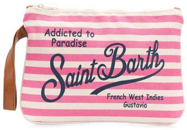 Parisienne striped clutch