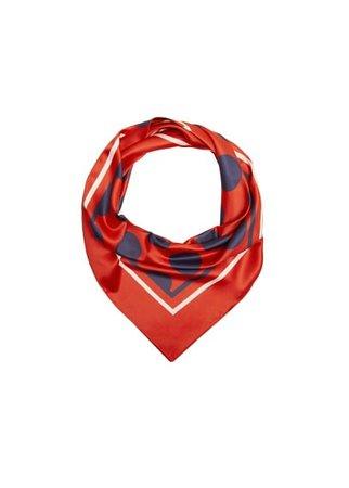 Violeta BY MANGO Polka-dot print scarf