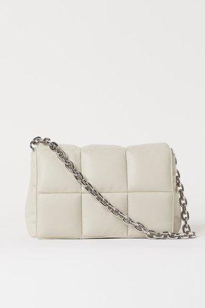 Quilted Shoulder Bag - Light beige - Ladies   H&M US