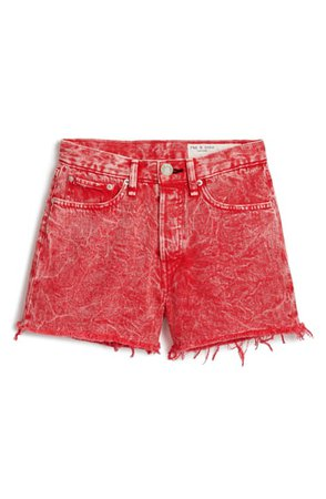 rag & bone Maya High Waist Denim Shorts | Nordstrom