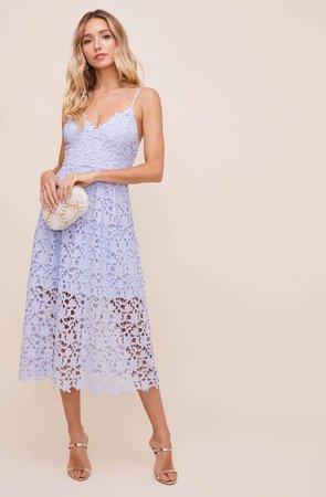 ASTR Lace A Line Midi Dress – ASTR The Label