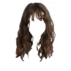 Brown Hair With Bangs PNG