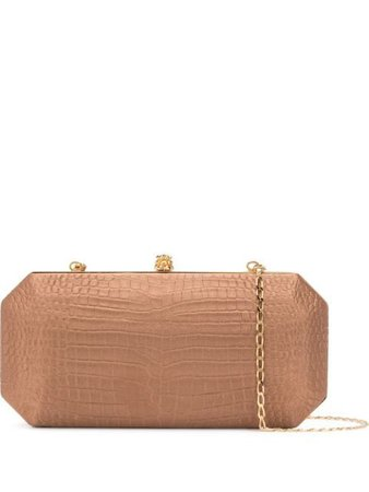 Tyler Ellis The Perry Clutch PCLGSMCN Brown | Farfetch