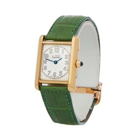 Cartier Must de Cartier 2415 Men Gold-Plated Watch at 1stDibs