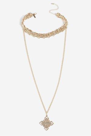 Golden necklace topshop