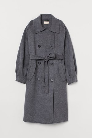Oversized Wool Coat - Gray