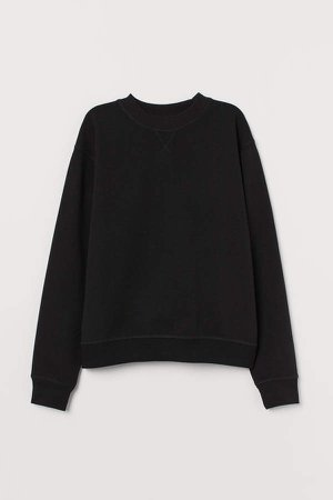 Cotton-blend Sweatshirt - Black