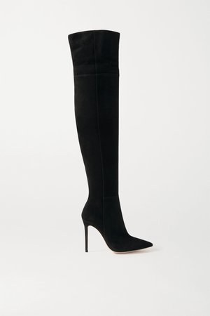 Black 105 suede over-the-knee boots | Gianvito Rossi | NET-A-PORTER
