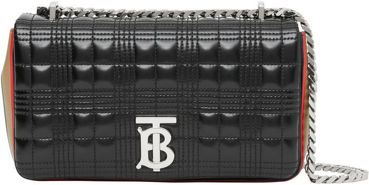 Small Lola Icon Stripe Detail Quilted Bag