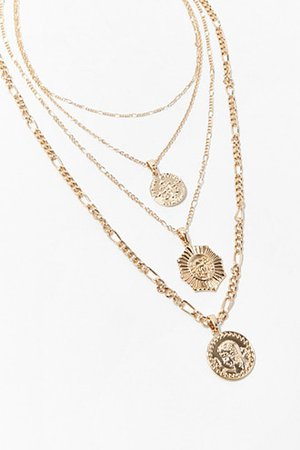 Heart Pendant Layered Necklace Set | Forever 21